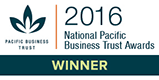 2016 National Pacific Business Trust Awards Winner
